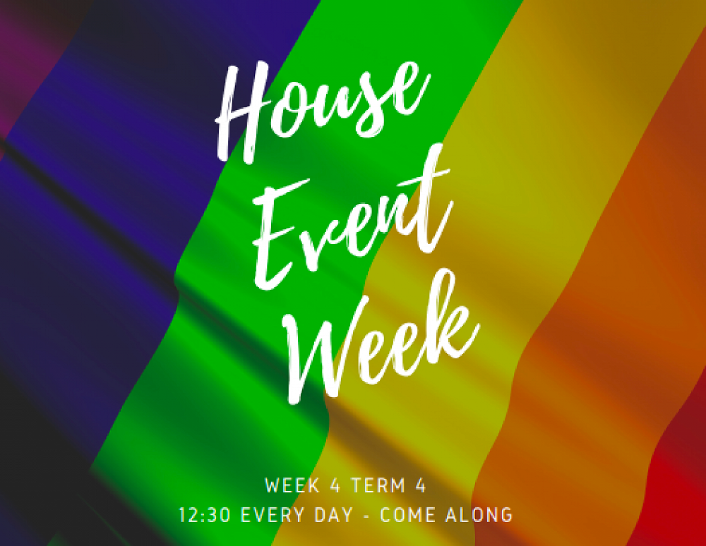 Wednesday 6th – House Events