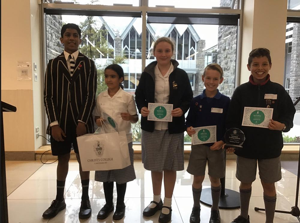 Cobham Team Wins the Annual Year 7 Christ's College Science Competition